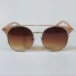 Other - Gold/Brown Browbar Sunglasses